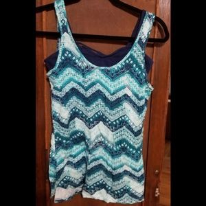 Two piece tank top and bralette